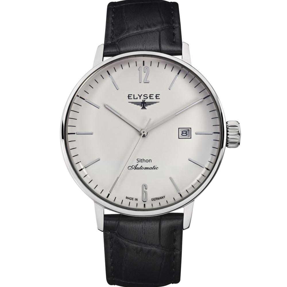 ELYSEE  Classic Sithon 復古放大紳士機械腕錶-白/42mm