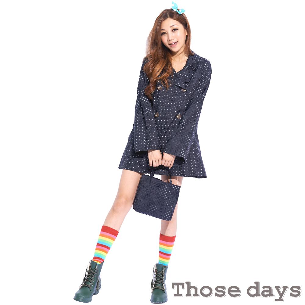 [快]Those days 日系OL短風衣款美型風衣/雨衣 day912
