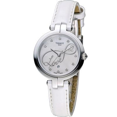 Tissot 天梭 Flamingo系列 戀人時尚腕錶-白/26mm