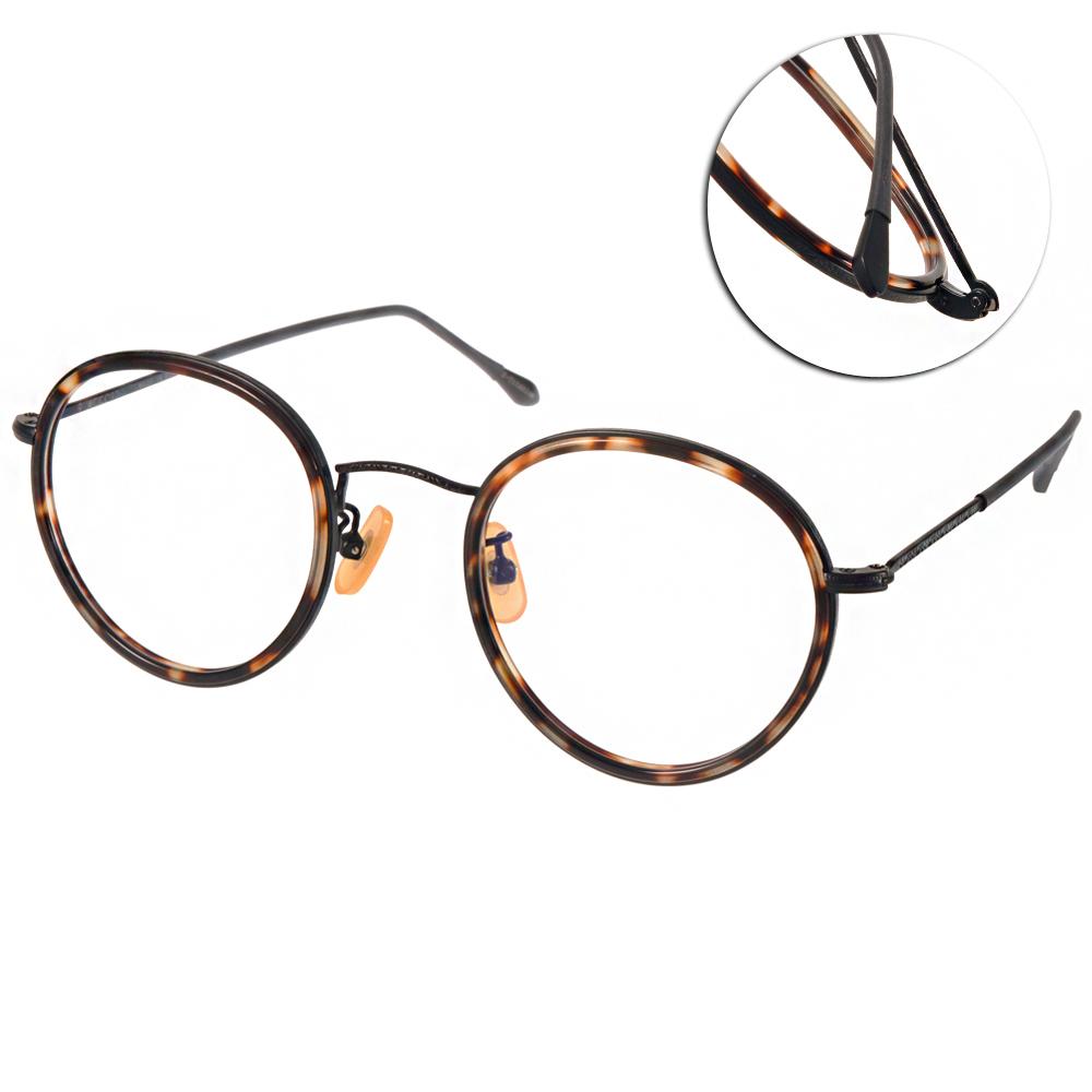 NINE ACCORD眼鏡 韓風圓框/琥珀-黑#ANTICA AV C04
