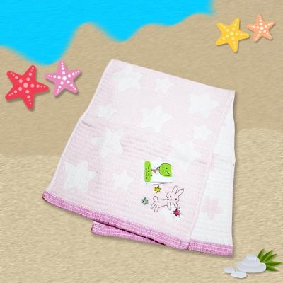 日本製粉星兔麻紗毛巾24*70  cm