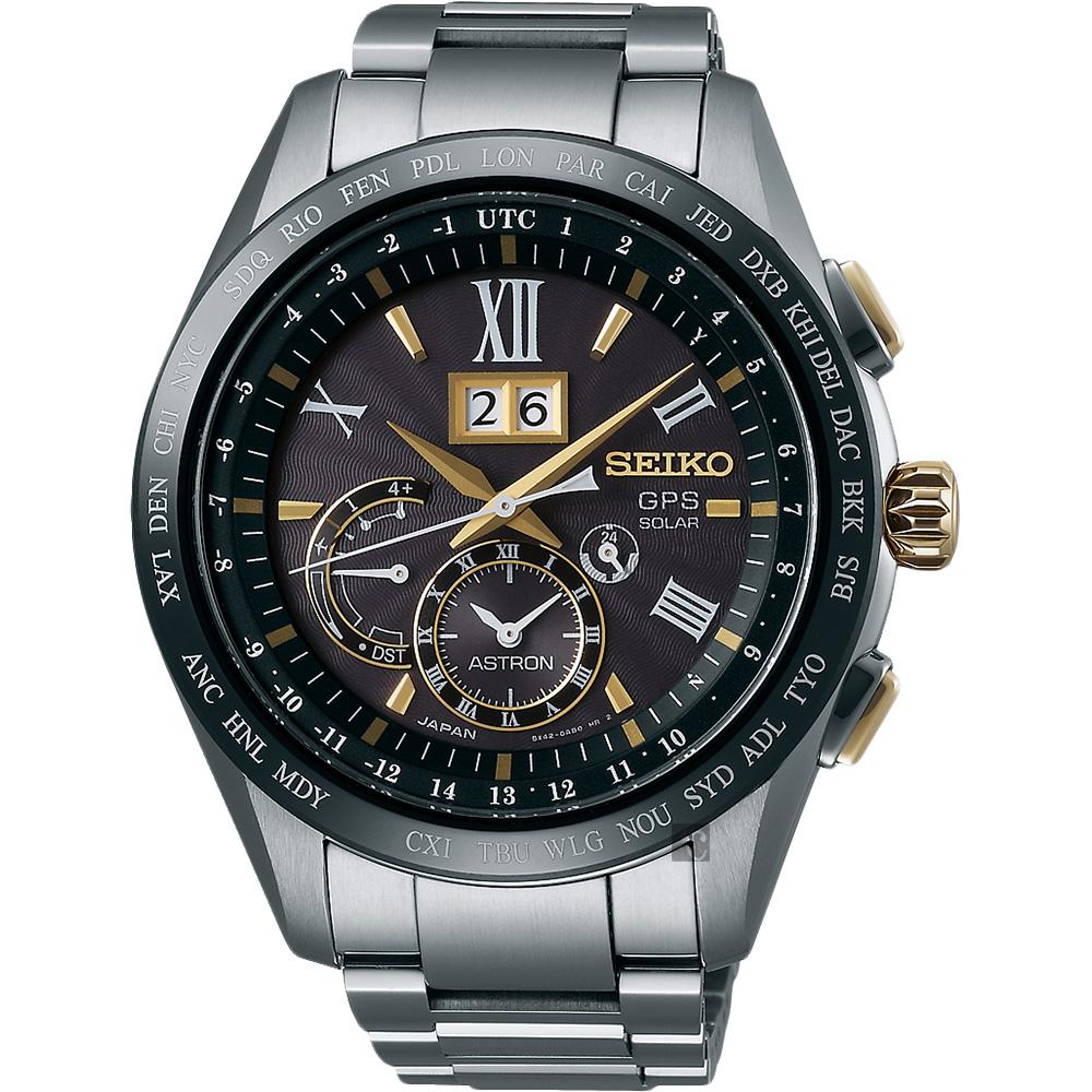 (無卡分期18期)SEIKO精工 GPS GPS太陽能鈦金屬衛星定位手錶(SSE139J1)