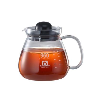 Glasshouse 台製耐熱玻璃壺/咖啡壺/花草茶壺960ML(B960)