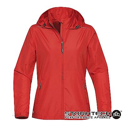 【加拿大STORMTECH】KX-1W超輕量防潑透氣連帽外套-女-紅