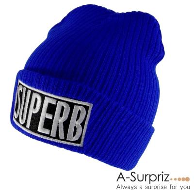 A-Surpriz SUPERB反摺針織帽(寶藍系)