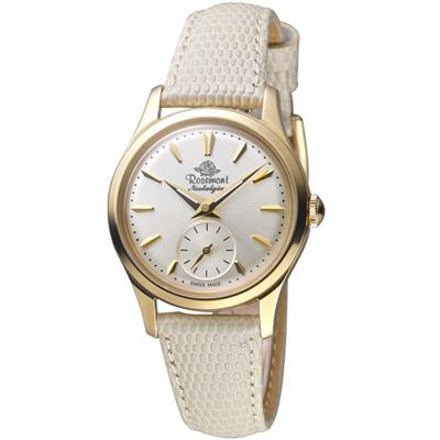 玫瑰錶 Rosemont 玫瑰米蘭系列時尚錶  -米白色/32mm