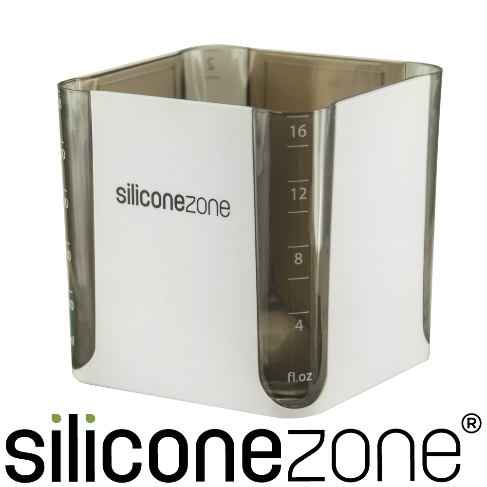Siliconezone 施理康520ml耐熱立方造型計量杯&計量匙-黑色