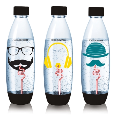 Sodastream水滴型專用水瓶1L 3入(嬉皮士)