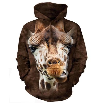 摩達客 美國進口The Mountain長頸鹿 長袖連帽T恤