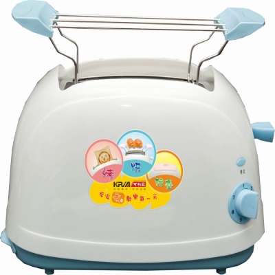 KRIA可利亞 烘烤二用笑臉麵包機 KR-8002(藍色)