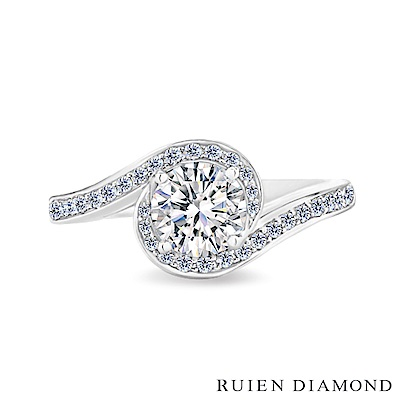 RUIEN DIAMOND GIA50分 DVS2 3EX18K白金 鑽石戒指