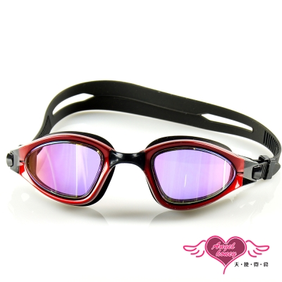 天使霓裳 抗UV防霧休閒電鍍泳鏡(90150-紅F)