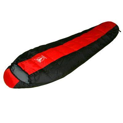 APC巴掌大超輕量羽絨睡袋750公克紅黑色
