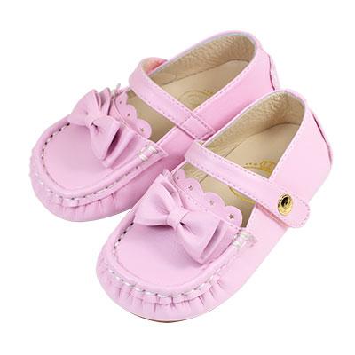 Swan天鵝童鞋-可愛蝴蝶結豆豆學步鞋 1527-紫
