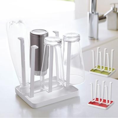 YAMAZAKI AQUA瀝水杯架-白/綠/紅★置物架/多功能收納/廚房用品