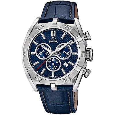 JAGUAR積架 EXECUTIVE 極速計時手錶-藍/45.8mm