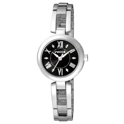 CITIZEN 傾訴愛戀氣氛時尚腕錶(BG3-911-51)-黑/24mm