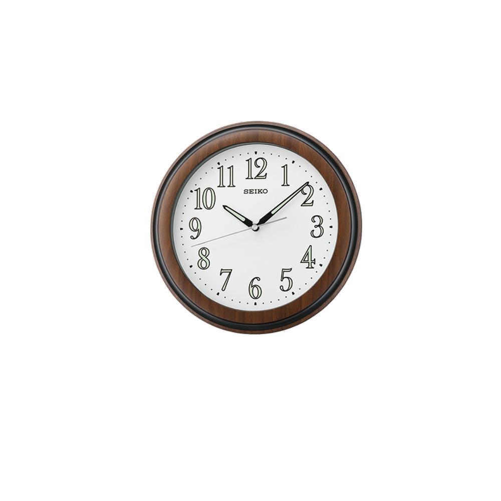SEIKO 日本精工 數字面 靜音掛鐘(QXA313B)-咖啡/28.7cm
