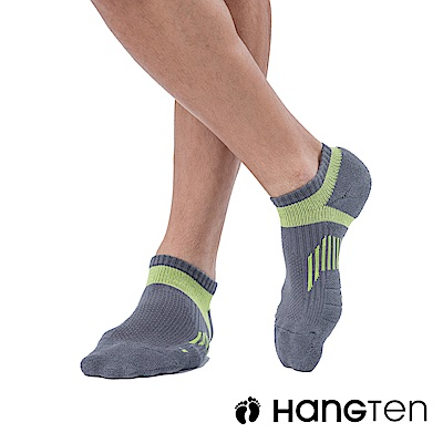 HANG TEN 船型氣墊機能襪3雙入組(男)_綠(HT-A23001)