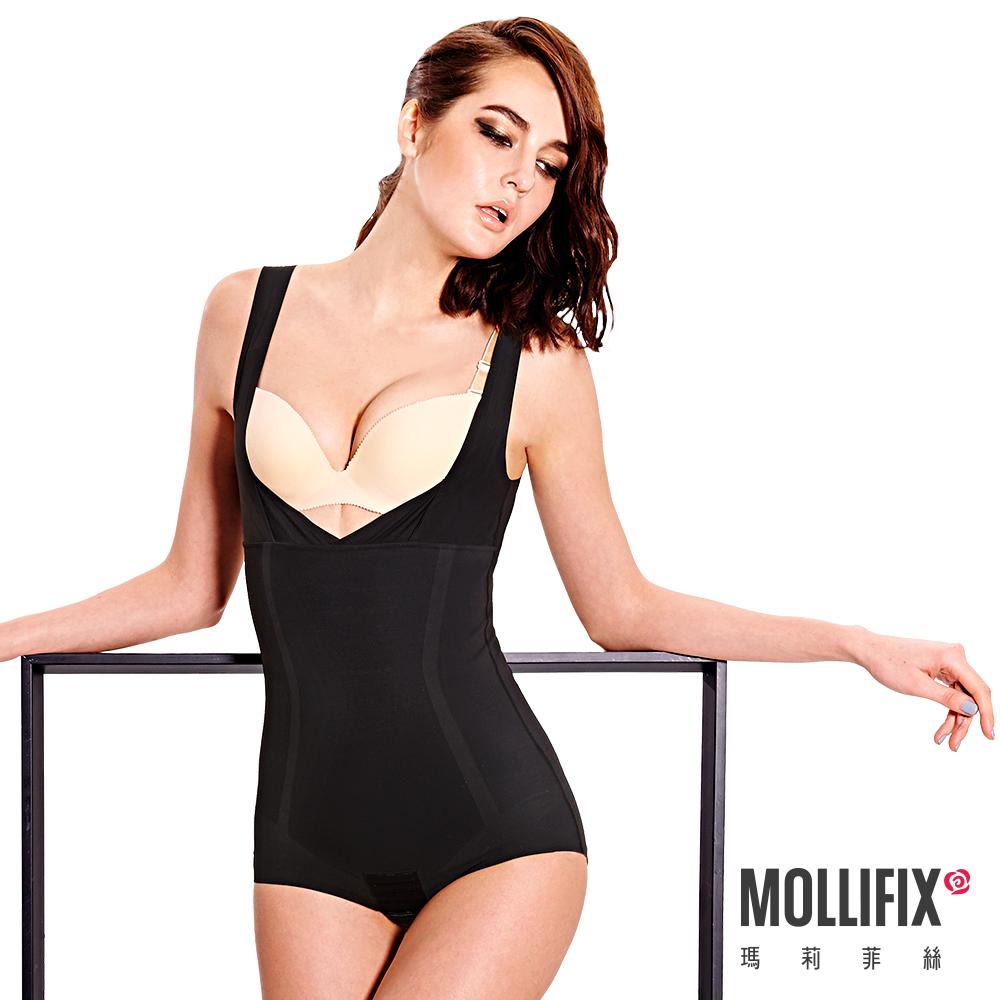 Mollifix 隱形殺手環繞連體塑身衣 (黑)