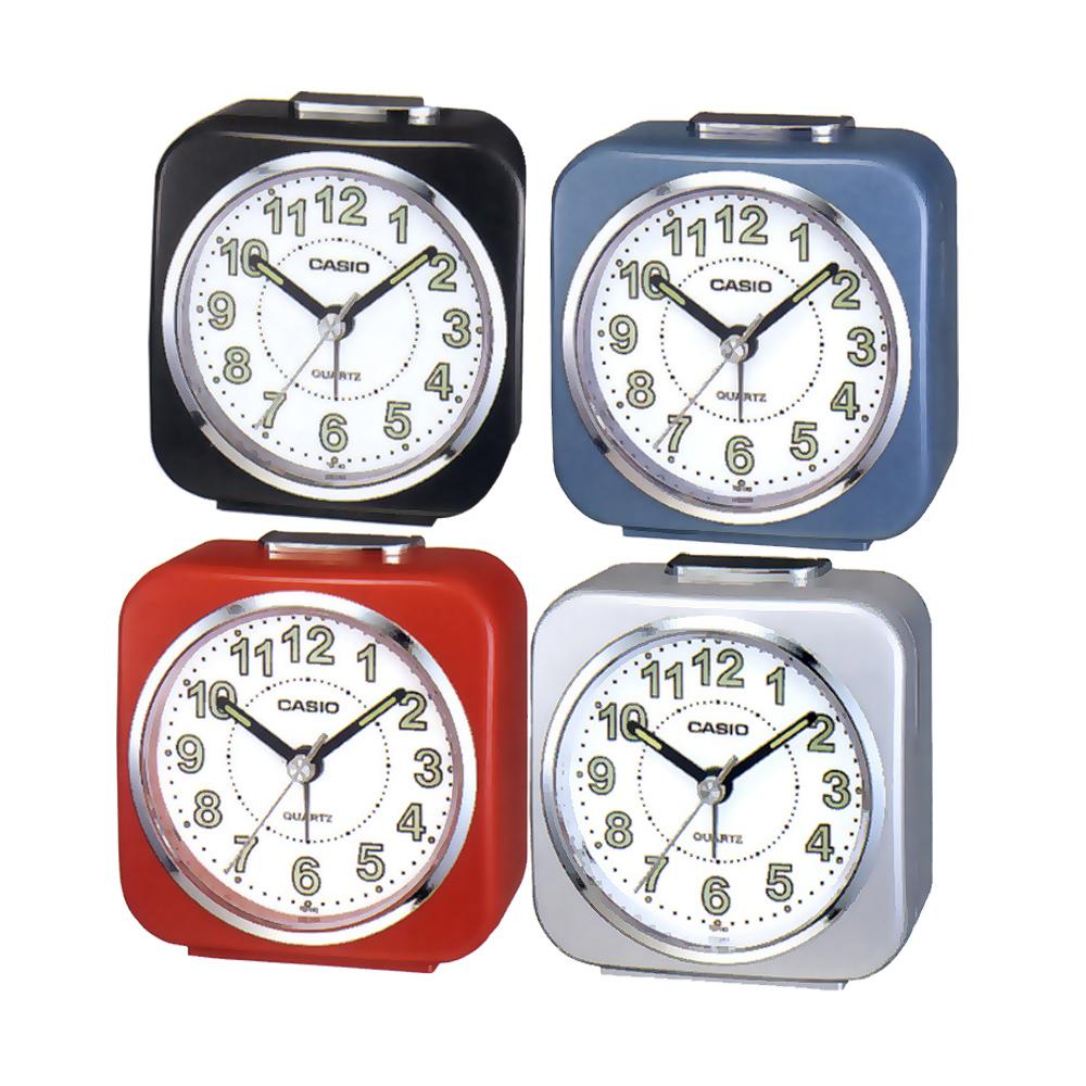 【CASIO 】桌上型指針鬧鐘(黑、藍、紅)