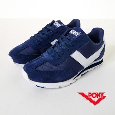 PONY-SOHO-飽和色復古慢跑鞋-深藍-女