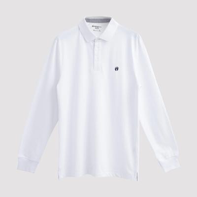 Hang Ten - 男裝 - 經典美式純色POLO衫 -白