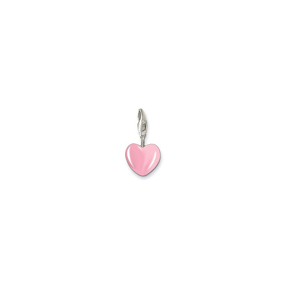 Thomas Sabo Charm Club Pink Heart 小銀墜