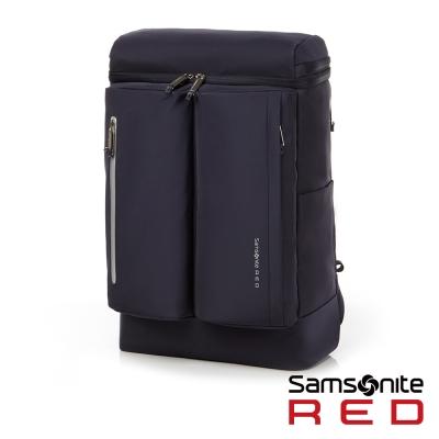 Samsonite RED BOLTTON造型潮流中性休閒筆電後背包-14吋(深藍)