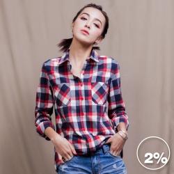 2%twopercent 個性英式格紋襯衫
