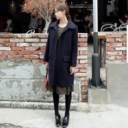 韓國娃娃領氣質保暖大衣
