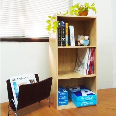 樂活家繽紛三格書櫃置物櫃2入6色可選