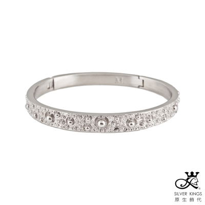 原生飾代SilverKings-百分之百白鋼手環