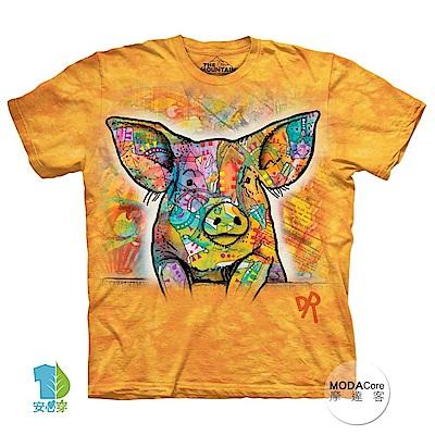 摩達客 美國進口The Mountain 彩繪小豬 純棉環保短袖T恤