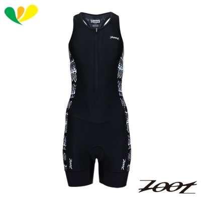 ZOOT 專業級肌能連身鐵人衣(女)(圖紋黑) Z1706011