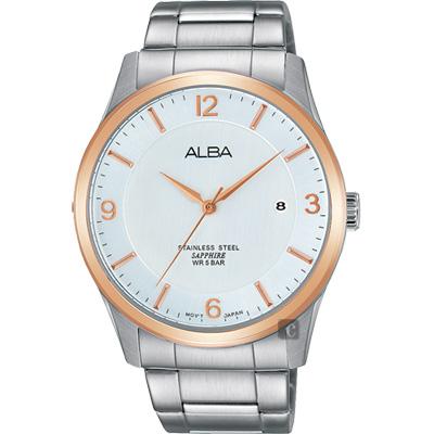 ALBA 時尚東京石英腕錶(AS9C92X1)-銀x玫塊金框/40mm