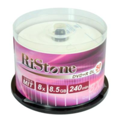 RiStone 日本版 DVD+R 8X  DL 桶裝 (50片)