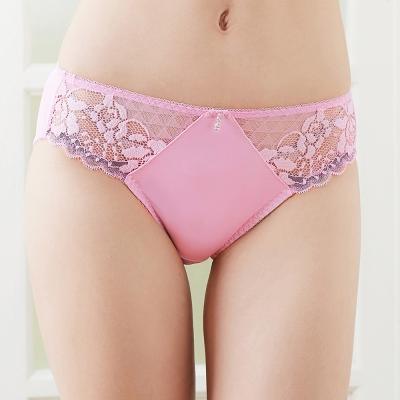 推EASY-SHOP-花漾心情-中腰三角褲-粉紅色