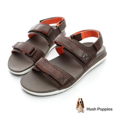 Hush Puppies ACTUALLY 超輕量減壓運動涼鞋-棕色