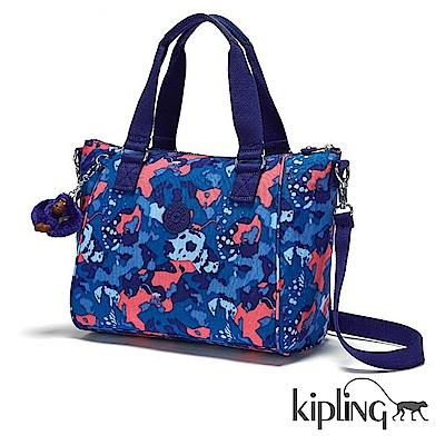 Kipling 手提包 大麥町迷彩藍-中