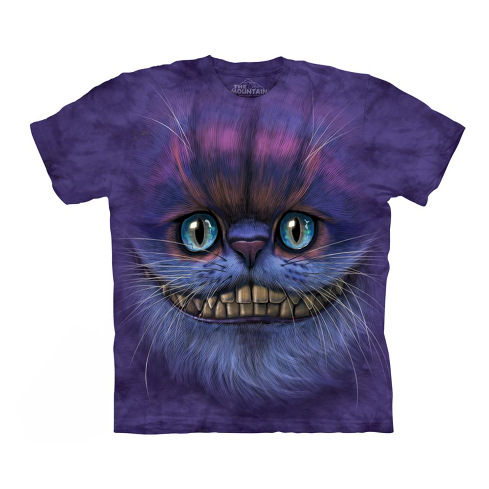 摩達客-美國The Mountain 笑笑柴郡貓臉 兒童版純棉環保短袖T恤
