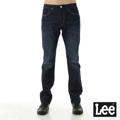 Lee 牛仔褲 724中腰標準直筒牛仔褲/UR-男款-深色