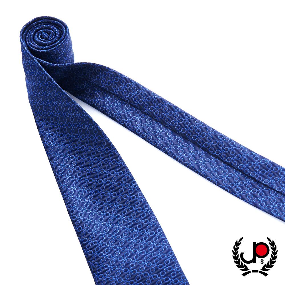 極品西服 100%絲質義大利手工領帶_幾何圓點藍(YT5067)