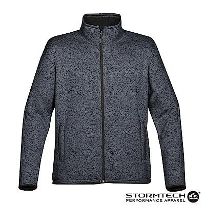 【加拿大STORMTECH】PMJ-1 立領針織刷毛保暖外套-男-深藍
