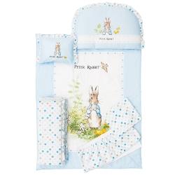 奇哥 花園比得兔六件床組L-藍色
