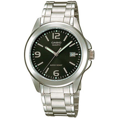 CASIO 時尚都會新風格指針錶(MTP-1215A-1A)-黑色/37mm