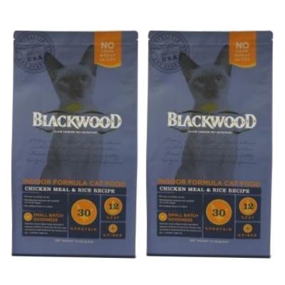 BlackWood 柏萊富 室內貓全齡優活配方(雞肉+米)4磅 1.8公斤 X 2包