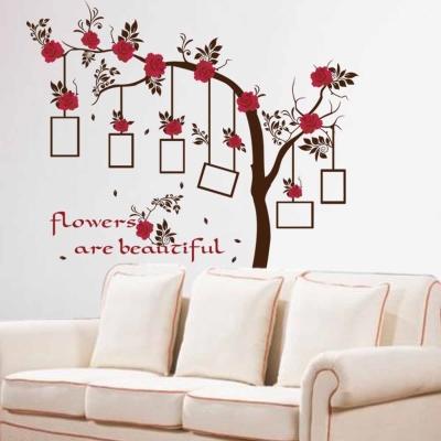 E-030創意生活系列-唯美花朵 大尺寸高級創意壁貼 / 牆貼