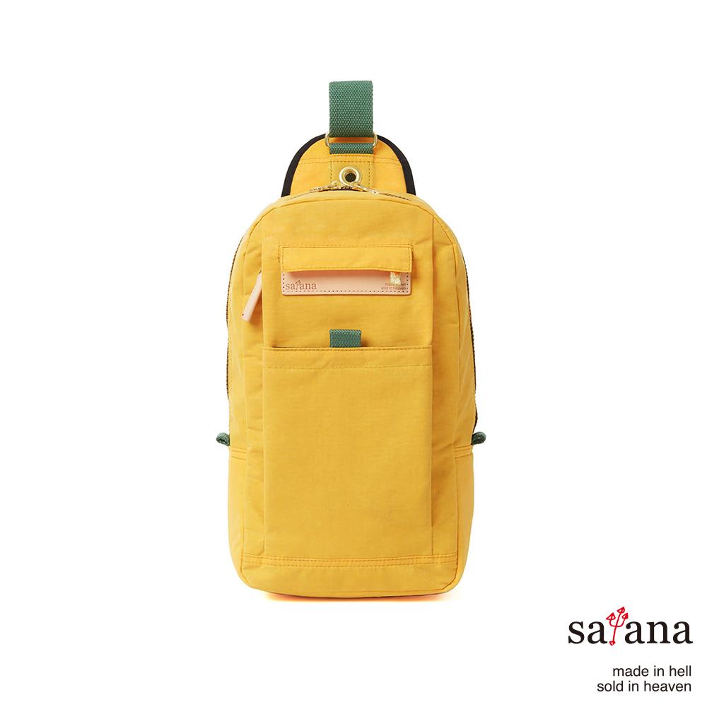 satana - 街頭時尚斜肩包 - 琥珀黃