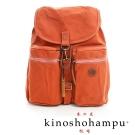 kinoshohampu-單車旅行系列 輕量帆布後背包 橘